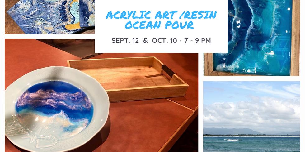 Acrylic Art / Resin Ocean Pour