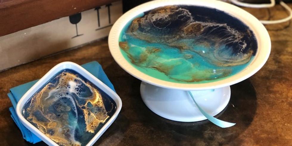 Art Pour - Porcelain Dessert Stand & Bowl