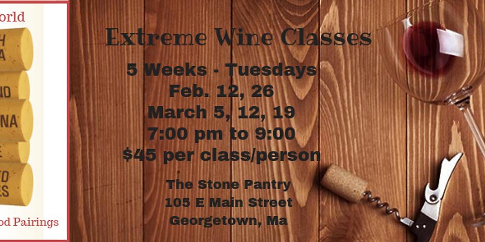 Extreme Wine Class - 3/12/19 - East Coast / Oregon / Washington State