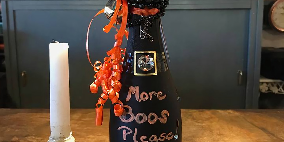 Sip & Decorate Wine Bottle For Halloween
