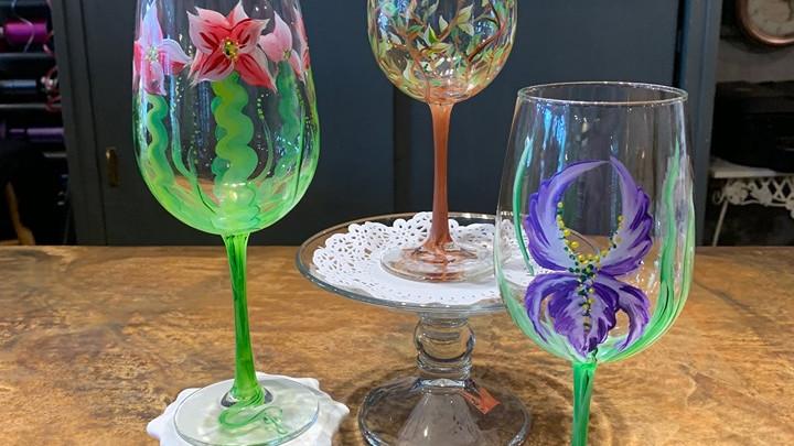 Laugh! Sip! Paint! - Wine Glass