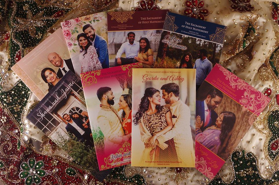 Wedding Program Books