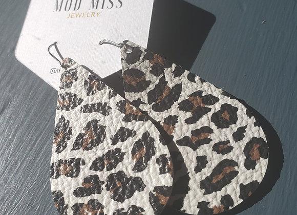Mod Miss: Cheetah on White Earrings