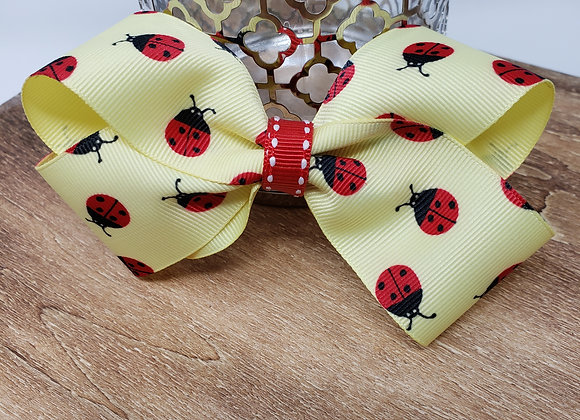 Ladybugs 🐞 in yellow Boutique Bow