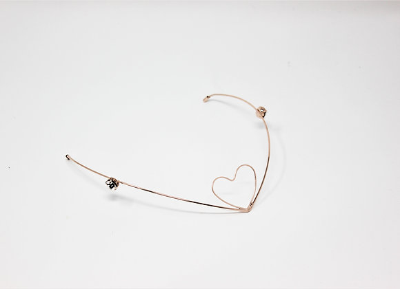 Heart on a V Hair Jewelry