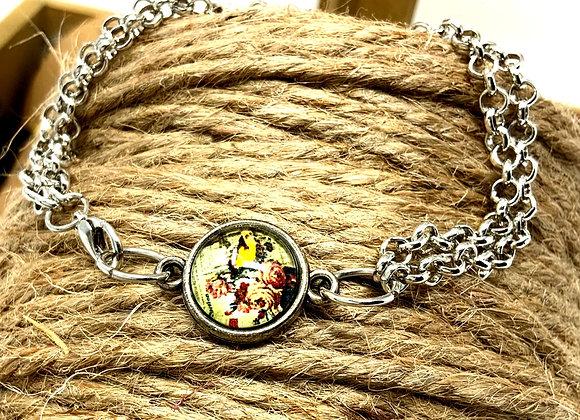 Double Chain Vintage Roses Bracelet