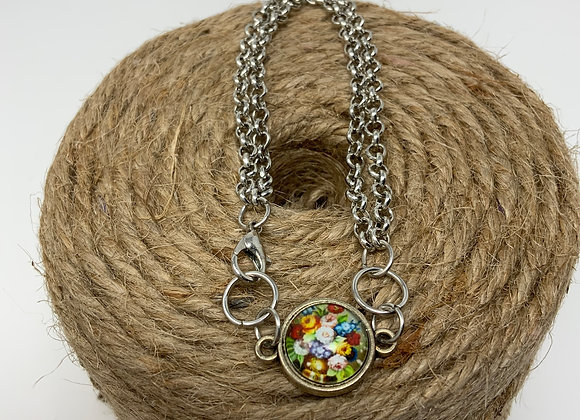 Tiny Flowers Double Chain Bracelet: EarlyBird Boutique