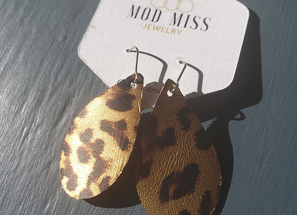 Mod Miss: Gold Leopard Earrings