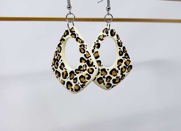 Leopard print earrings: EarlyBird Boutique