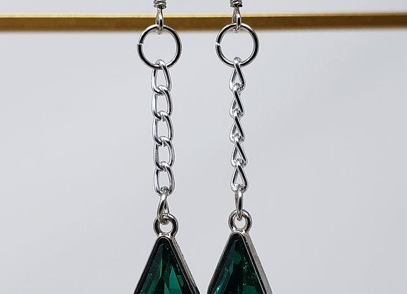 Teal Drops earrings by EarlyBird Boutique