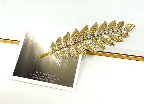 Red Truck Designs: Gold leaf Branch Hair Pin