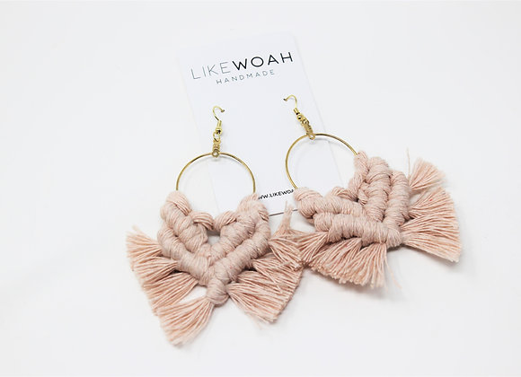 LikeWoah: pink hand tied earrings