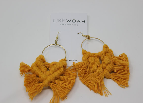 Macrame Hoop Earrings by LikeWoah