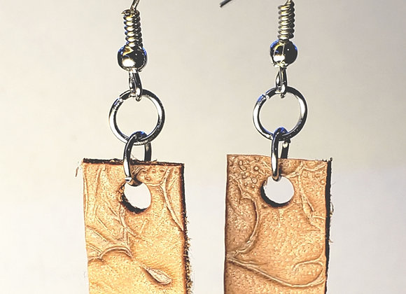 EarlyBird Boutique: Small Saddle Leather Earrings