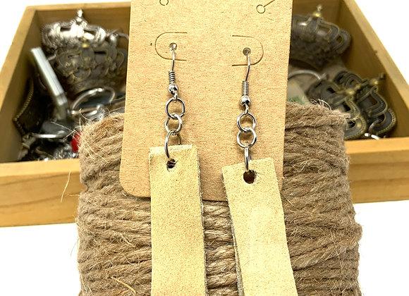 EarlyBird Boutique: buff leather earrings