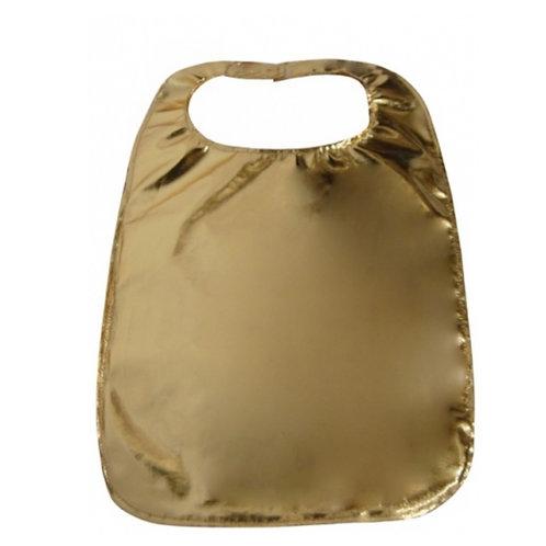 Gold  Lamey Clothing Protector (Adult Bib)