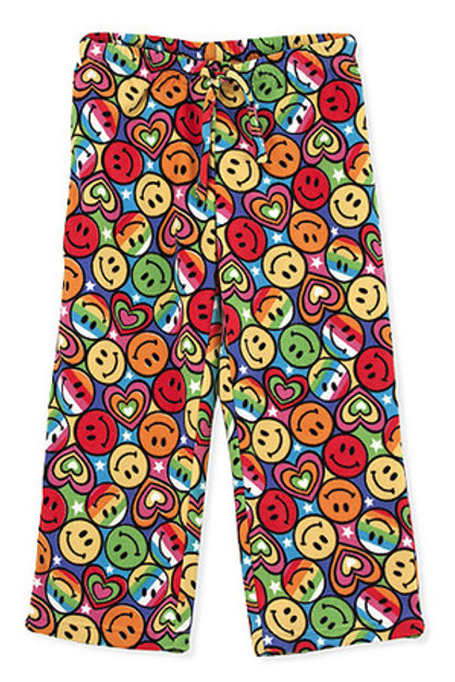 Image of the Smiley face fleece Pants for Girls, Pezzel
