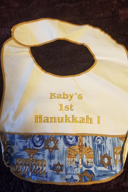 Baby's  1st Hanukkah Bib