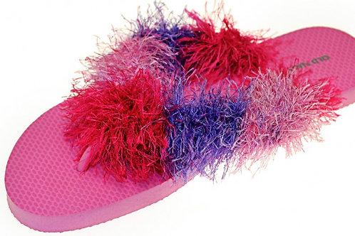 Flip Flops Pink with Purple/Pink Yarn