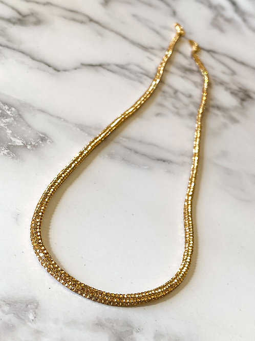 Mask Necklace - Gold
