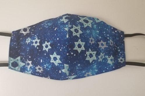 Blue & Silver Jewish Stars