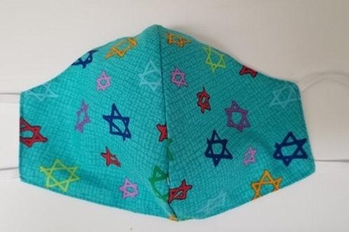 Turquoise Jewish Stars