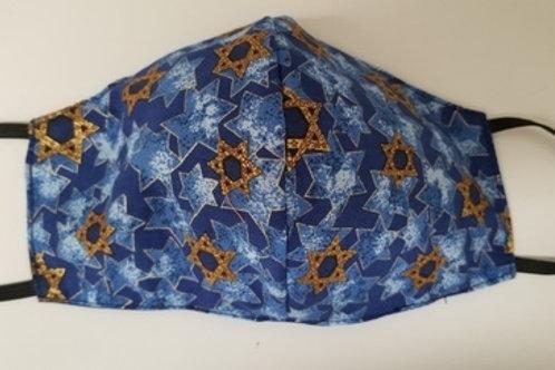 Blue & Gold Jewish Stars
