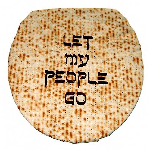 """""""LET MY PEOPLE GO"""" TOILET LID COVER SILK-SCREENED"""