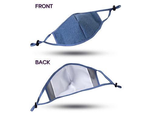 Adjustable Blue Mask with Pocket Filter