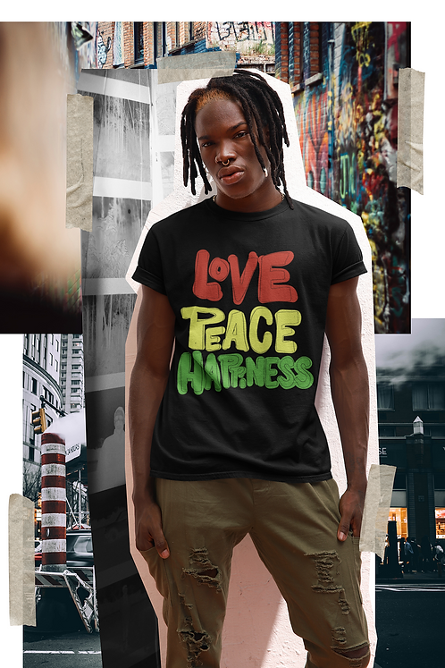 Love, Peace, Happiness T-Shirt