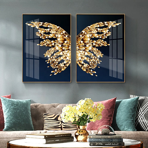 Gold Metal Butterfly