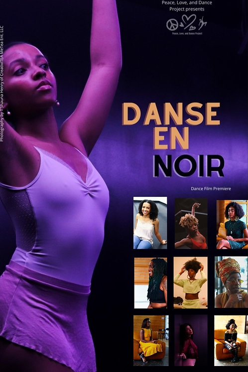 Danse En Noir Glossy Poster 11x14