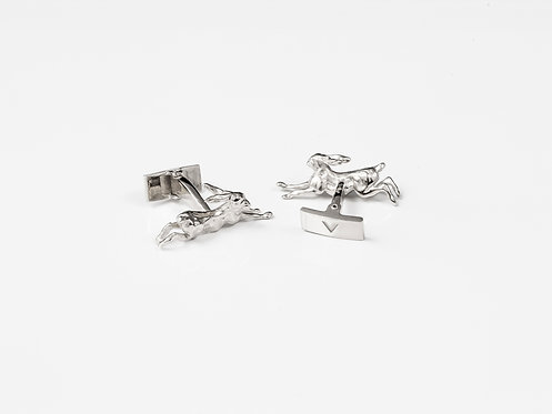 Jumping Hare Luxury Gold or Silver Cufflinks