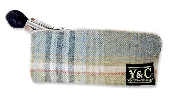 Y&C Tweed Make-up Bag/ Pencil Case