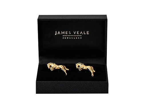 Jumping Race Horse Luxury Gold or Silver Cufflinks
