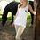 Thumbnail: WOMENS Y&C EMBLEM STRAP TOP - WHITE