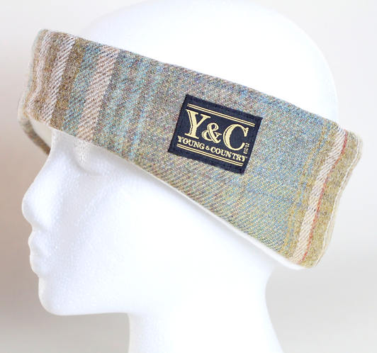 Blue Fawn Tweed Headband with Cream Lining - Limited Edition
