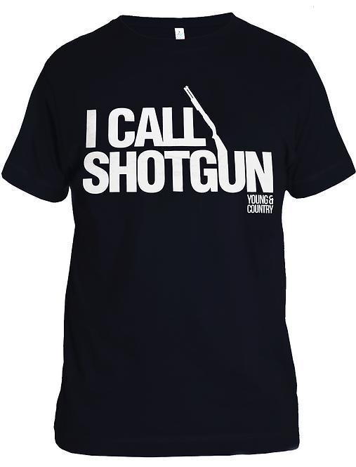 MENS 'I CALL SHOTGUN' TSHIRT - BLACK