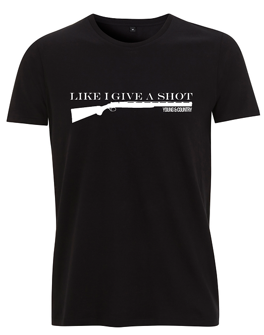 MENS 'LIKE I GIVE A SHOT' - BLACK