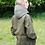 Thumbnail: Unisex Sage and Fern Herringbone Tweed Hood