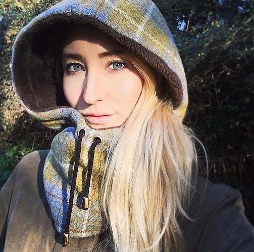 Barley and Forget-Me-Not Tweed Hood