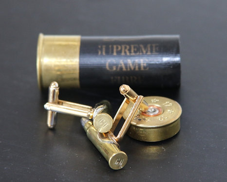 Luxury Handmade 0.22 Gold Rifle Bullet Cufflinks