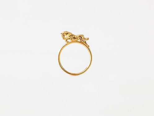 Jumping Race Horse Gold or Silver Stacking Ring