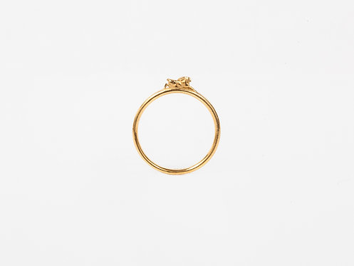 Leaping Hare Gold or Silver Stacking Ring