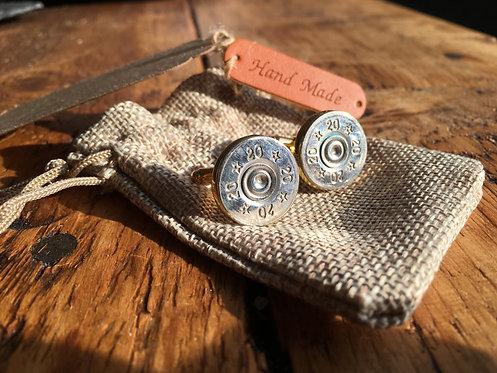 Sterling Silver - Recycled Shotgun Cufflinks
