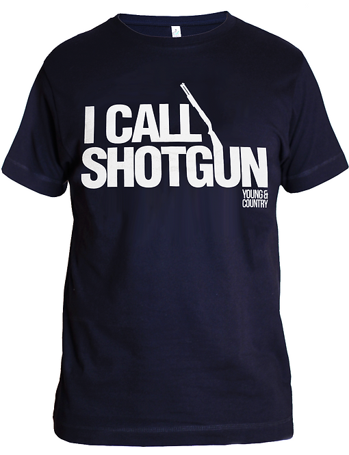 MENS 'I CALL SHOTGUN' TSHIRT - NAVY