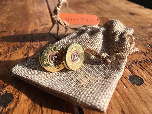 Brass Detail - Recycled Shotgun Cufflinks