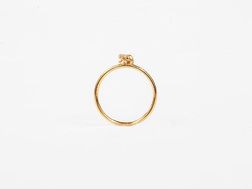 Atlas Bear Gold or Silver Stacking Ring