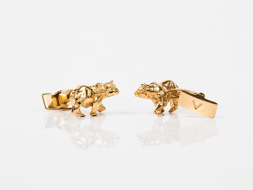 Atlas Bear Luxury Gold or Silver Cufflinks