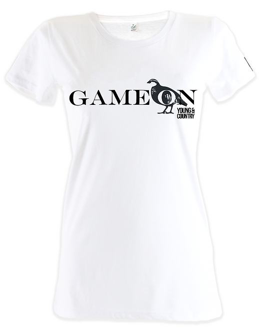WOMENS GAME ON TSHIRT